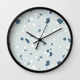 Terrazzo blues Wall Clock