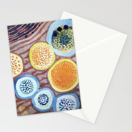 Still Life With Dotted Fruits Stationery Cards
