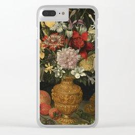 Centuries Paintings Georg Flegel STILL LIFE OF FLOWERS Clear iPhone Case
