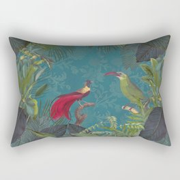 Birds Of Jungle Rectangular Pillow