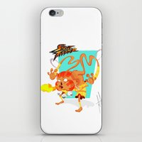 street fighter iPhone & iPod Skins featuring STREET FIGHTER - DHALSIN by mirojunior