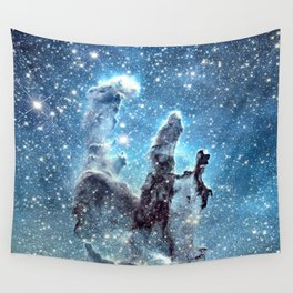 Pillars of Creation Blue Wall Tapestry