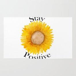 Stay Positive Sunflower Rug