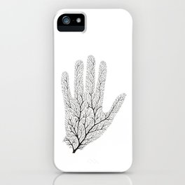 Hand Branches - Black iPhone Case