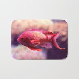 Red Fish Bath Mat