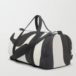 Minimalist Abstract Art Smoke Genie In The Lamp Mythical Magical Ink Art Black & White Duffle Bag