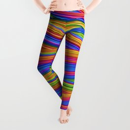 Feathery Rainbow Leggings