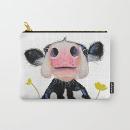 Nosey Friesian Cow ' DAFFODIL by Shirley MacArthur Carry-All Pouch