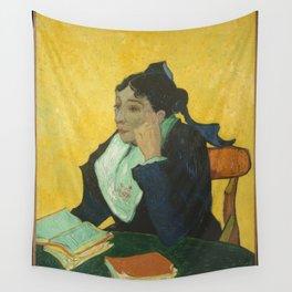 Vincent van Gogh - L'Arlésienne: Madame Joseph-Michel Ginoux (Marie Julien, 1848–1911) Wall Tapestry