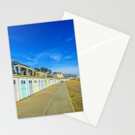 Beach Huts at Lyme Regis Stationery Cards