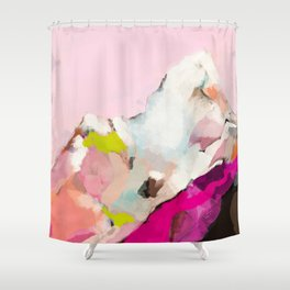 landscape mountain painting abstract Shower Curtain