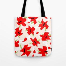 Scarlet Floral Tote Bag