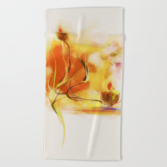 candle night Beach Towel