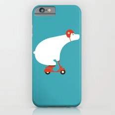 Polar bear on scooter Slim Case iPhone 6