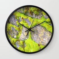 moss Wall Clocks featuring Moss by Post Haste Art