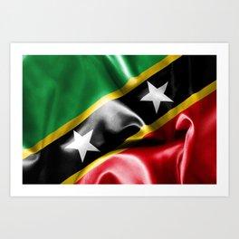 Saint Kitts and Nevis Flag Art Print