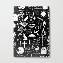 Buffy Symbology, White Metal Print