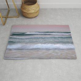 Sea waves. Summer sunset Rug