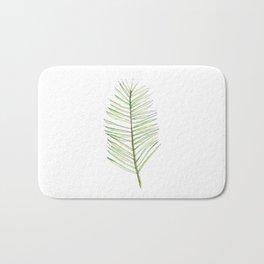 PALM ARECA - WHITE BACKGROUND Bath Mat