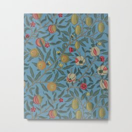 William Morris Fruit and Pomegranate Vintage Print Metal Print