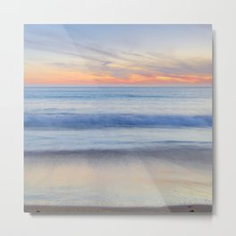 Magical Waves at sunset. Square. Tarifa Beach Metal Print
