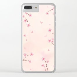 Cherry Blossom Dream Clear iPhone Case