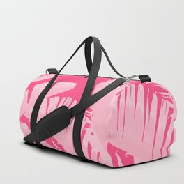 Chill Pink Tropical Banana Leaves Design Duffle Bag