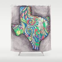 texas Shower Curtains featuring Texas by Laura Maxwell