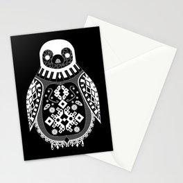 Black Penguin pattern artic Ecopop Stationery Cards