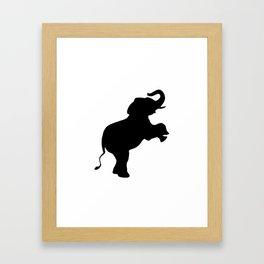 Elephant Silhouette Framed Art Print