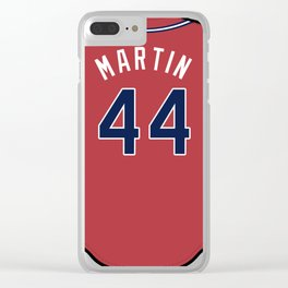 Rudy Martin Jersey Clear iPhone Case