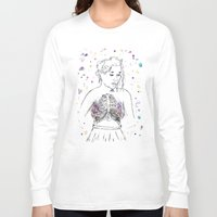 lungs Long Sleeve T-shirts featuring Lungs by Sarah Hartnell