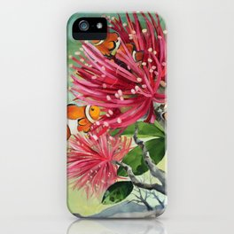 Clownfish & Ohia iPhone Case