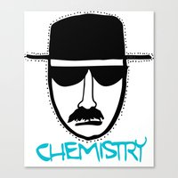 chemistry Canvas Prints featuring Chemistry by John Michael Gill