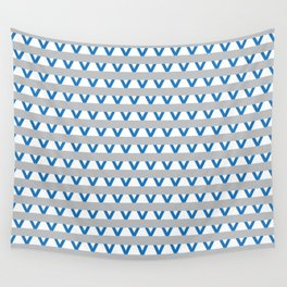 Paranoia (Grey and Turquoise) Wall Tapestry