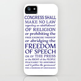 Defend Your Freedom of Speech iPhone Case