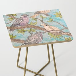 Various Pigeons Side Table