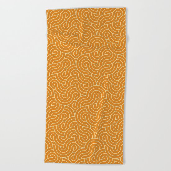 SWIRL / mango juice Beach Towel