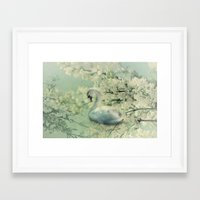 swan Framed Art Prints featuring Swan by Ellen van Deelen