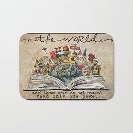 The World Is A Book Bath Mat