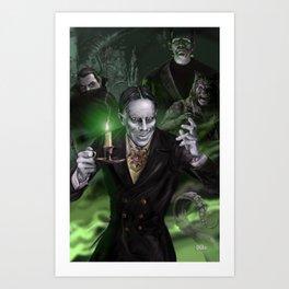 "Zacherley ""The Cool Ghoul"" Art Print"