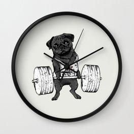 Black Pug Lift Wall Clock