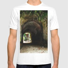 Old tunnel 2 MEDIUM Mens Fitted Tee White