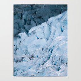Blue Glacier in Norway - Landscape Photography Poster