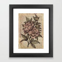 Peonies  - Color Framed Art Print