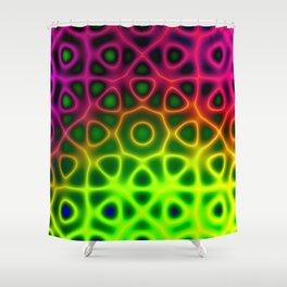 Electric Octagon Shower Curtain