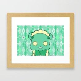 Monochromatic Kuma Lulu Framed Art Print