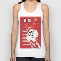 waldo Tank Tops featuring Wheres Waldo by grapeloverarts