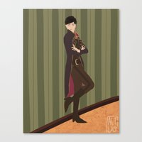 dishonored Canvas Prints featuring Emily Kaldwin by Altlas