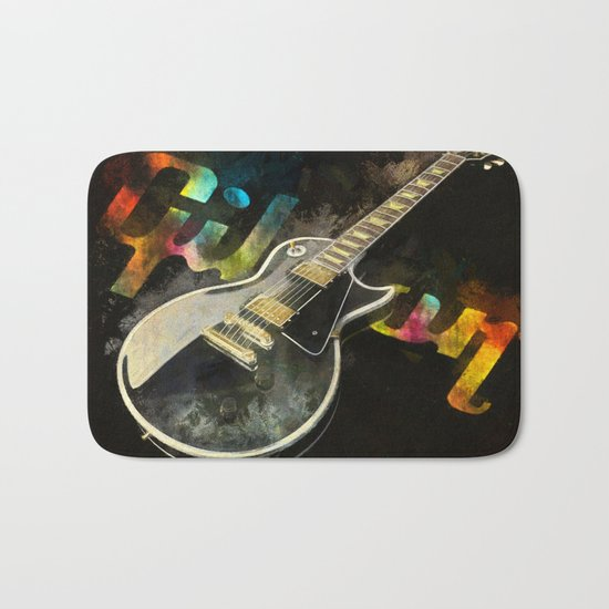 Come on Feel the Noise (Gibson Lp) Bath Mat